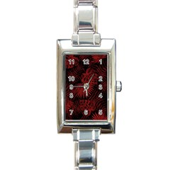 Tropical Pattern Rectangle Italian Charm Watch by ValentinaDesign