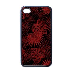 Tropical Pattern Apple Iphone 4 Case (black) by ValentinaDesign