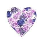 Tropical pattern Heart Magnet Front