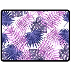Tropical Pattern Double Sided Fleece Blanket (large)  by ValentinaDesign