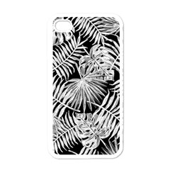 Tropical Pattern Apple Iphone 4 Case (white) by ValentinaDesign