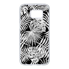 Tropical Pattern Samsung Galaxy S7 Edge White Seamless Case by ValentinaDesign