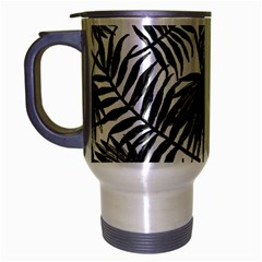 Tropical Pattern Travel Mug (silver Gray) by ValentinaDesign