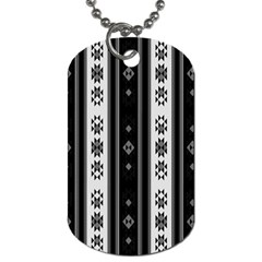 Folklore Pattern Dog Tag (two Sides) by ValentinaDesign