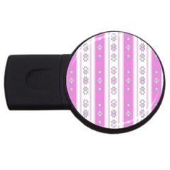 Folklore Pattern Usb Flash Drive Round (4 Gb) by ValentinaDesign