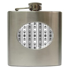 Folklore Pattern Hip Flask (6 Oz) by ValentinaDesign