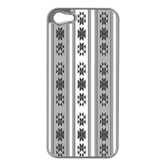 Folklore Pattern Apple Iphone 5 Case (silver) by ValentinaDesign