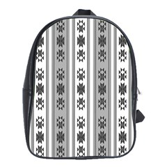 Folklore Pattern School Bag (xl) by ValentinaDesign