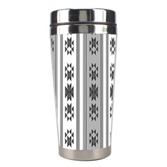 Folklore Pattern Stainless Steel Travel Tumblers by ValentinaDesign