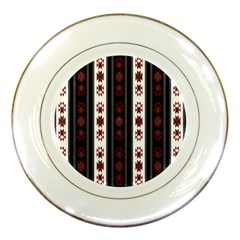 Folklore Pattern Porcelain Plates by ValentinaDesign