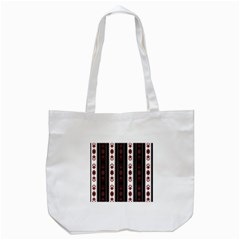 Folklore Pattern Tote Bag (white) by ValentinaDesign