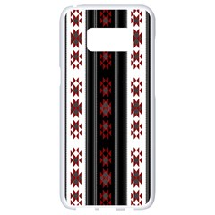 Folklore Pattern Samsung Galaxy S8 White Seamless Case by ValentinaDesign