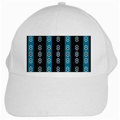 Folklore Pattern White Cap