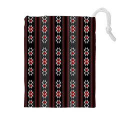 Folklore Pattern Drawstring Pouches (extra Large) by ValentinaDesign
