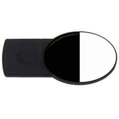 Black And White Usb Flash Drive Oval (2 Gb)