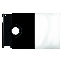 Black And White Apple Ipad 3/4 Flip 360 Case by Valentinaart