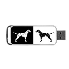 Dalmatian Dog Portable Usb Flash (two Sides) by Valentinaart