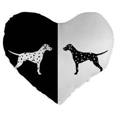 Dalmatian Dog Large 19  Premium Heart Shape Cushions by Valentinaart