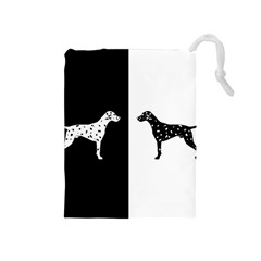 Dalmatian Dog Drawstring Pouches (medium)