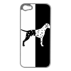 Dalmatian Dog Apple Iphone 5 Case (silver) by Valentinaart