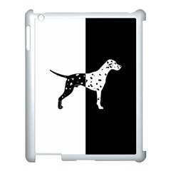 Dalmatian Dog Apple Ipad 3/4 Case (white) by Valentinaart