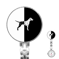 Dalmatian Dog Stainless Steel Nurses Watch