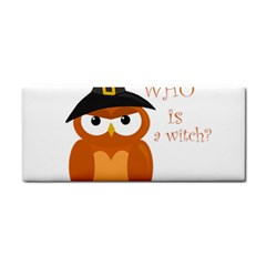 Halloween Orange Witch Owl Cosmetic Storage Cases by Valentinaart