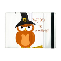 Halloween Orange Witch Owl Apple Ipad Mini Flip Case by Valentinaart