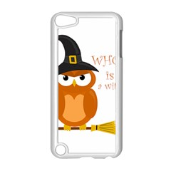 Halloween Orange Witch Owl Apple Ipod Touch 5 Case (white) by Valentinaart