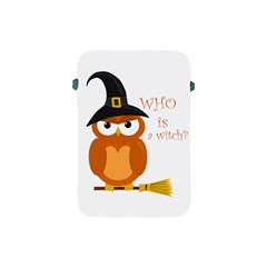 Halloween Orange Witch Owl Apple Ipad Mini Protective Soft Cases by Valentinaart