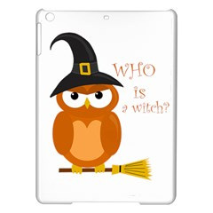 Halloween Orange Witch Owl Ipad Air Hardshell Cases by Valentinaart