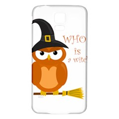 Halloween Orange Witch Owl Samsung Galaxy S5 Back Case (white)