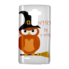 Halloween Orange Witch Owl Lg G4 Hardshell Case by Valentinaart
