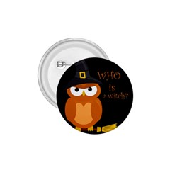 Halloween Orange Witch Owl 1 75  Buttons