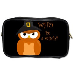 Halloween Orange Witch Owl Toiletries Bags 2 Side by Valentinaart