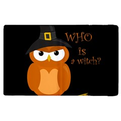 Halloween Orange Witch Owl Apple Ipad 2 Flip Case by Valentinaart