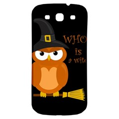 Halloween Orange Witch Owl Samsung Galaxy S3 S Iii Classic Hardshell Back Case by Valentinaart