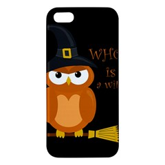 Halloween Orange Witch Owl Iphone 5s/ Se Premium Hardshell Case by Valentinaart