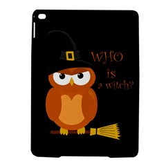 Halloween Orange Witch Owl Ipad Air 2 Hardshell Cases by Valentinaart