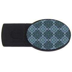 Oriental Pattern Usb Flash Drive Oval (4 Gb) by ValentinaDesign