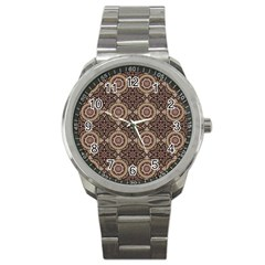 Oriental Pattern Sport Metal Watch by ValentinaDesign