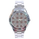 Oriental pattern Stainless Steel Analogue Watch Front