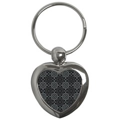 Oriental Pattern Key Chains (heart)  by ValentinaDesign
