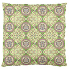 Oriental Pattern Large Flano Cushion Case (one Side) by ValentinaDesign
