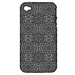 Oriental Pattern Apple Iphone 4/4s Hardshell Case (pc+silicone) by ValentinaDesign