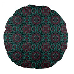 Oriental Pattern Large 18  Premium Round Cushions by ValentinaDesign