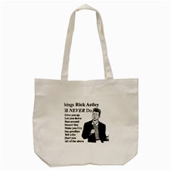 Rick Astley Tote Bag (cream) by Powwow