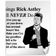 Rick Astley Canvas 16  X 20   by Powwow