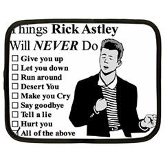 Rick Astley Netbook Case (large) by Powwow