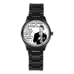 Rick Astley Stainless Steel Round Watch by Powwow